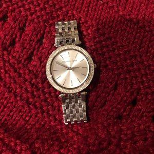Silver Rhinestone Michael Kors Watch